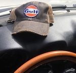 Gulf Distressed Cap Black